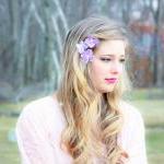 hydrangea hair clip