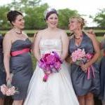 rose cabochon necklace, bridesmaid ..