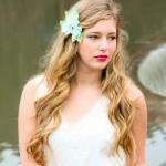 cherry blossom hair clip, sea foam ..