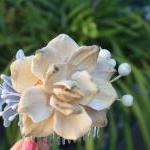 pine cone rose hair comb