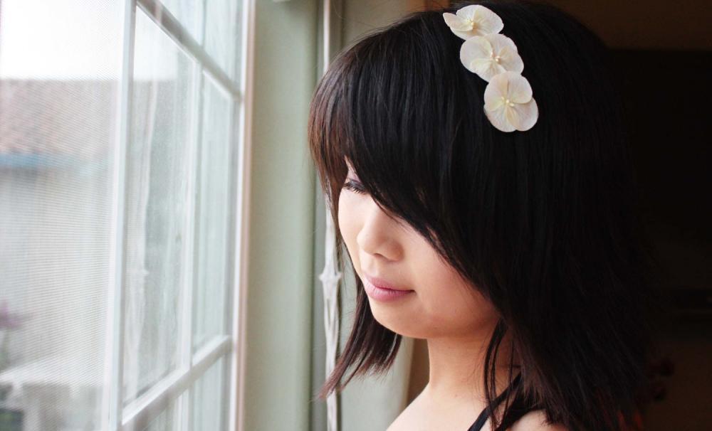 Silk White Hydrangea, Hydrangea hair clip, white bridal hair clip, wedding hair, flower hair