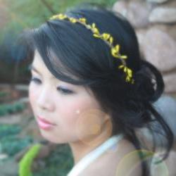 wire pip berries crown, bribemaid headband, garden wedding