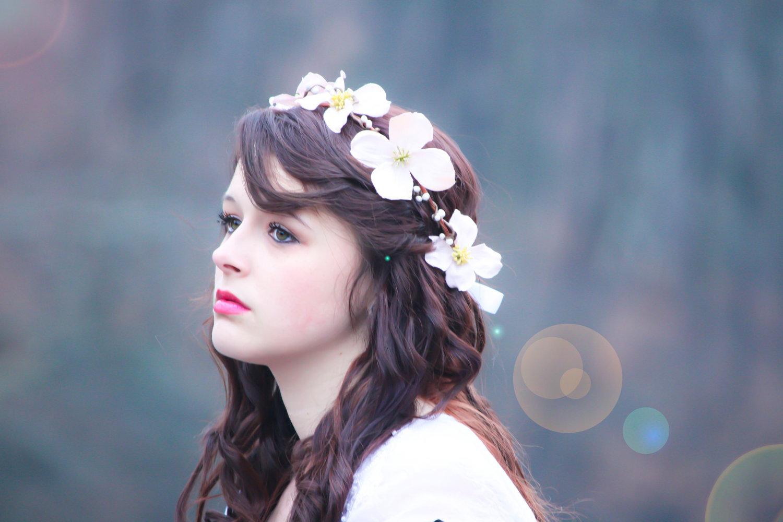 Wedding Hair Crown Flower Hair Band Flower Hair Crown Dogwood